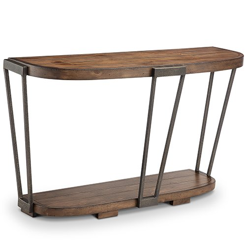 Magnussen Furniture Yukon Entryway Table in Bourbon and Aged Iron