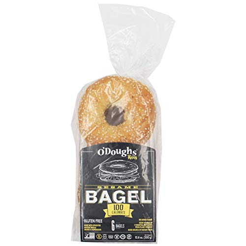O'Doughs - Sesame Bagel Thins 10.6 oz || Good Source of Fibre, Cholesterol Free, Trans Fat Free. | Pack of 6 |