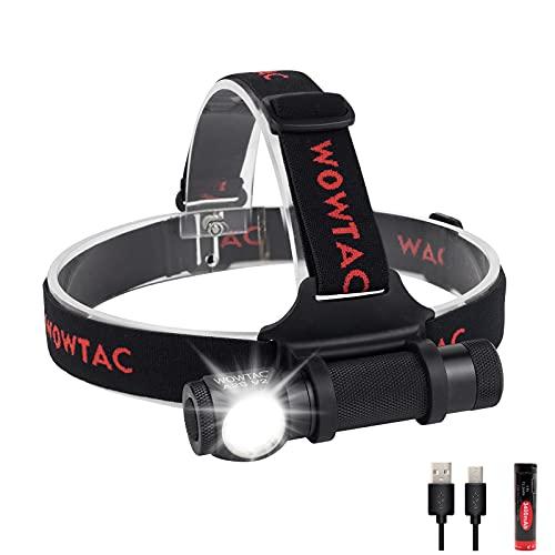 WOWTAC A2S V2 USB Rechargeable Cree LED Headlamp Detachable, 1000 Lumens Compact Waterproof Headlamp Versatile Brightness Camping Headlamp Flashlight-CW