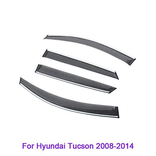 QCYSTBTG Für Hyundai Tucson IX25 IX35 IX45 Elantra Avante Verna Sonata, Auto Styling Markisen Schutz Fenster Visiere Regen eyeb Autofenster Augenbrauen
