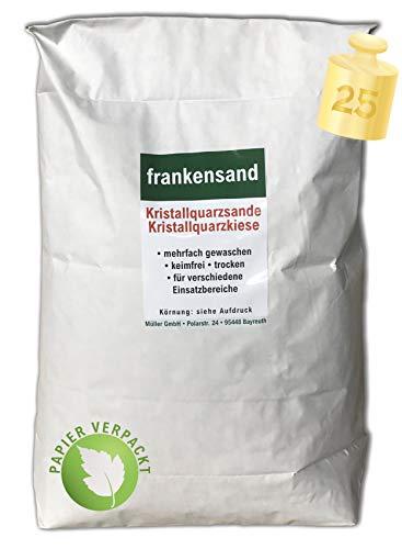 Müller GmbH - Filtersand/Filterkies/Kristallquarzsand/Quarzsand für Sandfilteranlagen - 25 KG - 0,4-0,8 mm - Deutsche Produktion