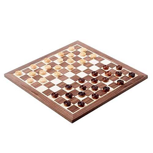 Plateau de jeu de dames française avec pions en bois