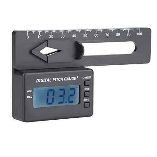 LCD Digital Pitch Accesorio RC Calibrador de tono digital electrónico Fácil de transportar para las cuchillas habituales de los modelos de helicópteros Rc