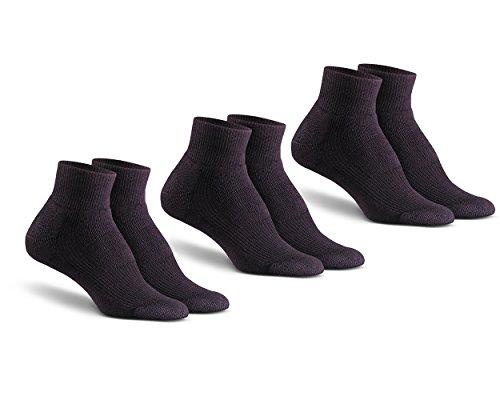 Fox River Mills Dry Walker Socke mit Docht, leicht, 3 Stück Large schwarz