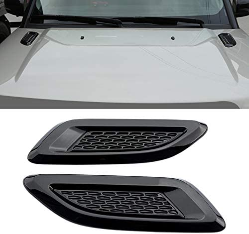 KGASYUI Car Trust safety Hood Vent Scoop Front Air Outlet 2pcs