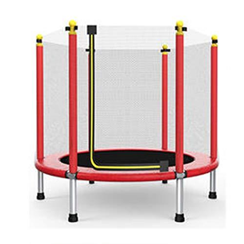 Indoor Outdoor Kids Trampoline - Oefeningstrampoline Voor Peuters Met Veiligheidsnet, Kan 200 Kg Dragen, Bijgevoegde Gift Ocean Ball En Springtouw,48inch