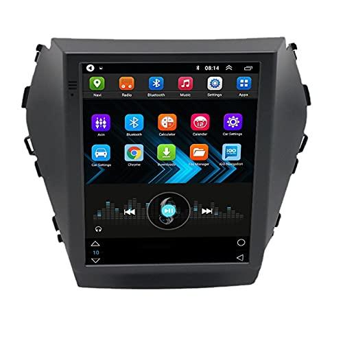 Android 10.0 9 Pollici Autoradio Satellite Radio Lettore Multimediale Autoradio 2.5D Navigatore GPS Per Hyundai SANTA FE 2013-2017 Supporto WiFi Bluetooth/Controllo Del Volante(Color:WIFI 4G+64G)