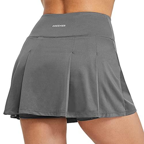 Ogeenier Falda de Tenis con Bolsillos para Mujer Falda Padel