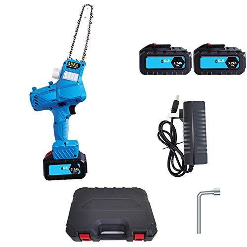 WRISCG Sierra Cadena Bateria, Mini Motosierra eléctrica portátil, Sierra eléctrica con una...