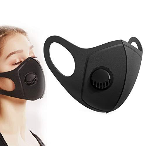 ZY Anti-Polvo Respirable Filtros De Aire, Anti-Haze PM2.5 Antirrociadura Activado Equipo De Carbono, Aislado De Polvo Gránulos De Protección Boca Filtros, Lavable Y Reutilizable, Negro