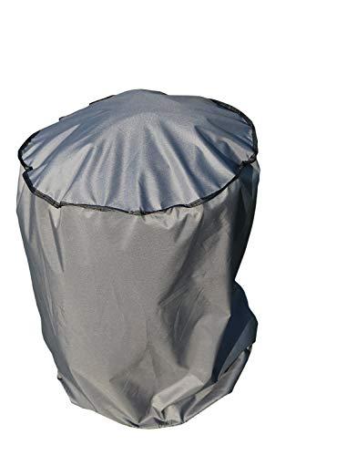 SORARA Housse de Protection imperméable pour Barbecue   Gris   Ø 56 x 97 cm