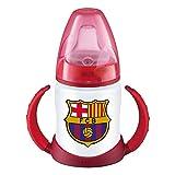 NUK Entrena First Choice Plus, Biberón del Barça de Silicona, Producto Oficial, Biberón Ergonómico 6 a 18 Meses 150 ml