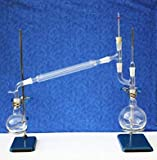 Aaradhya Traders AT729 Borosilicate 3.3 Glass Vacuum Distillation Set, 24/29 Joint, 1000 ml