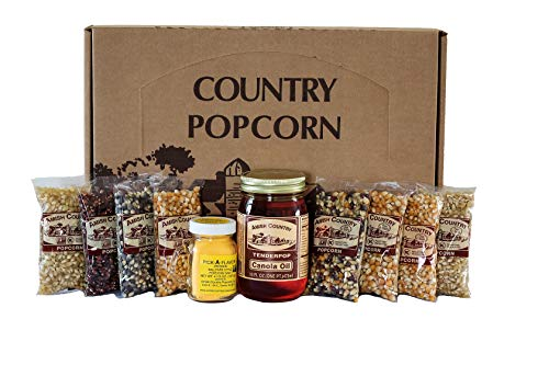 Amish Country Popcorn   4 Ounce Variety Gift Sets   Old Fashioned with Recipe Guide (Closed Variety Gift Set, 8 (4 Ounce))