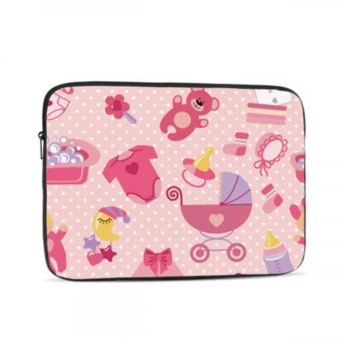 Macbook Pro Estuche de 13 Pulgadas Cochecito de bebé con Estilo Lindo Lady Mac Book Pro Estuches Multicolor