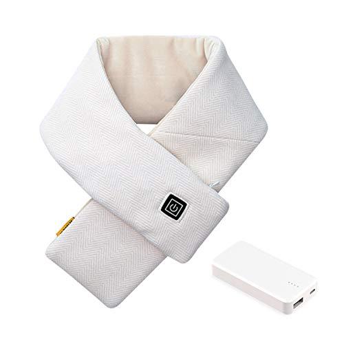 Susanny ネックウォーマー 加熱スカーフ 電熱マフラー 襟巻き 移動バッテリー付き USB給電 防水機能 洗える 3段階温度調節 ベルベット生地 5V安全電圧 防寒 暖房スカーフ クリスマスプレゼント