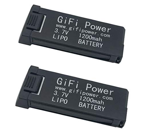2-Pack 1200mAh 3.7V High Capacity LiPo Replacement Battery Compatible with Eachine E58/S168/HY019 RC Drone