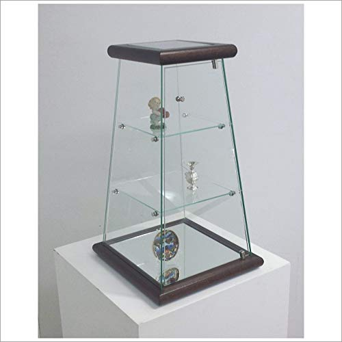 VM ART DESIGN GLASS BY VETRERIA MICELI VETRINETTA Piramide da BANCO MOD. VM203T (Noce Scuro)