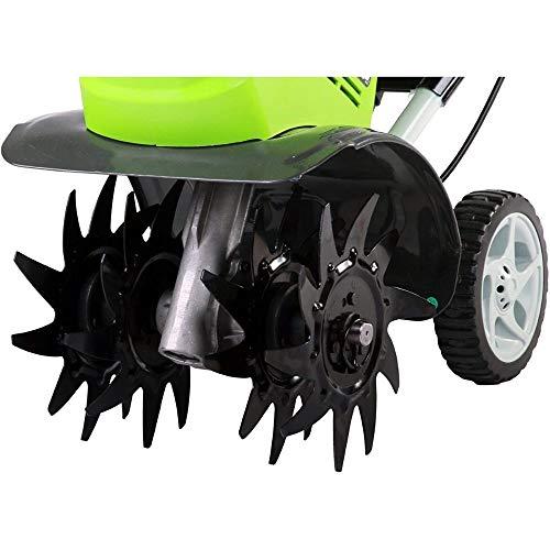 Greenworks Motobineuse à batterie G40TL (Li-Ion batterie 40V fraiseuse rotative avec 4 lames spécialement trempées profondeur de travail 20cm sans batterie ni chargeur), Vert