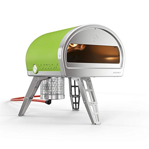 ROCCBOX Portable Outdoor Pizza Oven - Gas or Wood Fired, Dual-Fuel, Fired Pizza Oven - Green. Buy Now for Free Wood...