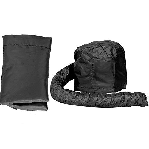 Draagbare haardrogerhoed met capuchon, handgemaakt, hoed, haardroger, kap om te drogen, krulstyling, zwart Roze.