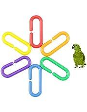 WFZ17 400 clips en C, de plástico, para loros, periquitos, pájaros, ratas, no tóxicos, ganchos en forma de C, juguetes para masticar, 400 unidades