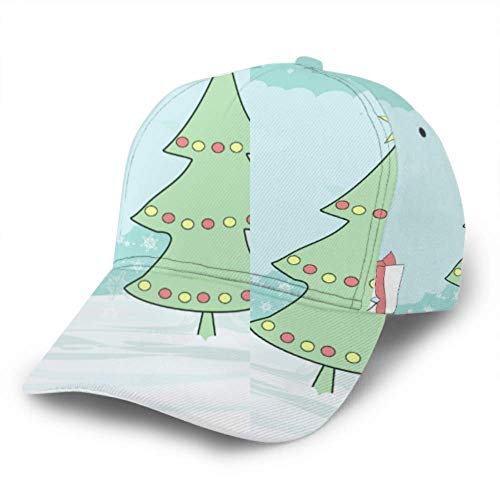 Baseball Cap Unicorn with Christmas Tree and A Surprise Adjustable Unisex Baseball Cap Trucker Hat Fits Men Women Hat