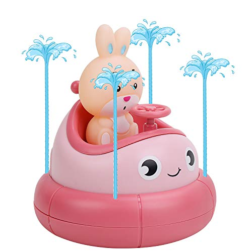 Bathtub Toy, Fountain Bath Toy for Baby Toddler Kids, Bath Tub Toy Spray Water Toy Preschool Boys Girls Bathroom Shower Swimming Pool Toy (Pink)