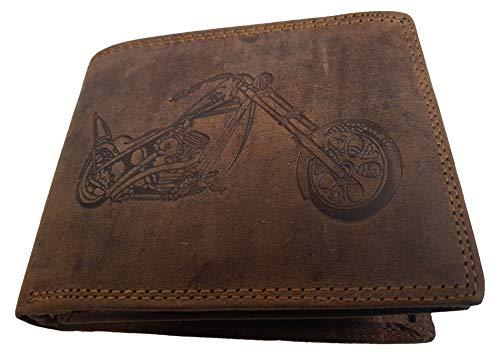 Billetera de piel de búfalo para motocicleta Harley II rústica AS de la marca Einkaufszauber