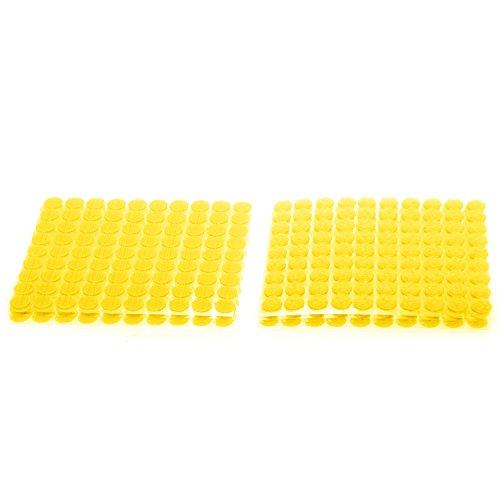 TUKA 900 Piezas(450 Pares) 10mm pegajoso Monedas Puntos, Adhesivos Círculos, Almohadillas Adhesivos, Gancho y Bucle Círculos Auto-Adhesivo, Amarillo, TKB5025 Yellow