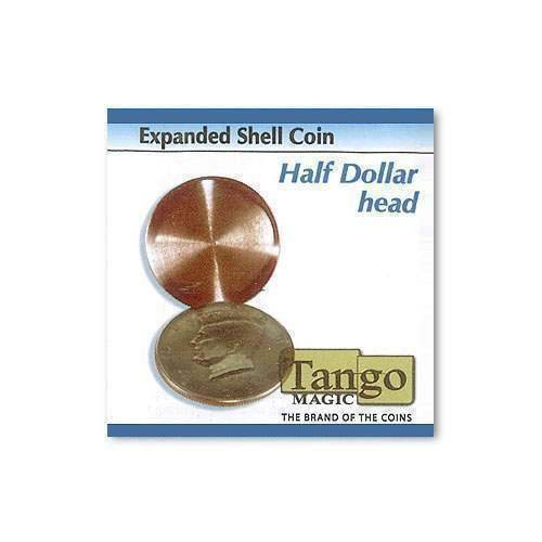 SOLOMAGIA Expanded Shell Coin - Half Dollar (Head) by Tango Magic - Magic with Coins - Trucos Magia y la Magia
