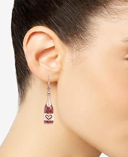 Betsey Johnson Rose Mismatch Drop Earrings