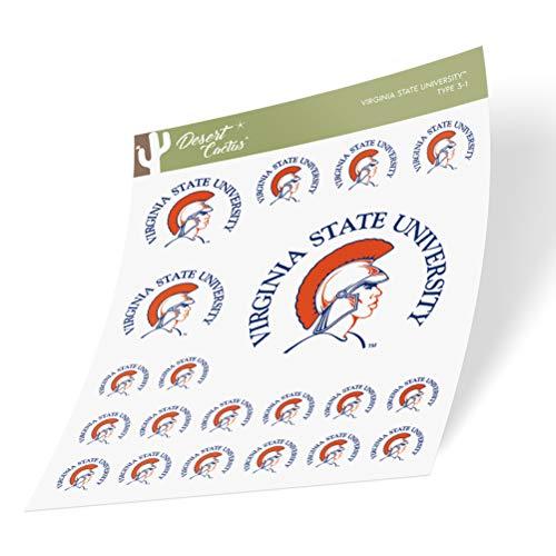 Virginia State University VSU Trojans Sticker Vinyl Decal Laptop Water Bottle Car Scrapbook (Sheet Type 3)