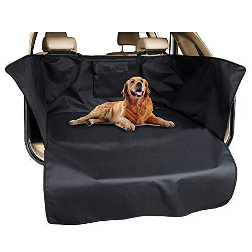 Hoteck Kofferraumschutz für Hund, Universal Wasserdichter Kofferraumdecke Hundedecke Auto mit Seitenschutz für Kofferraum und ladekantenschutz,185x105x37 cm Schwarz