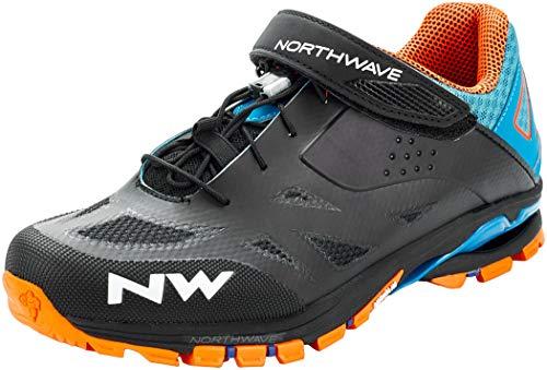 Northwave Spider 2 MTB Trekking Fahrrad Schuhe schwarz/blau/orange 2021: Größe: 44