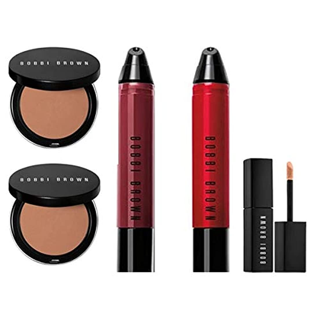 器用刈り取る君主制Bobbi Brown Mini ミニ 5set - 2x Liquid Lip + 2x Bronzing Powder + 1x Serum Concealer [海外直送品] [並行輸入品]
