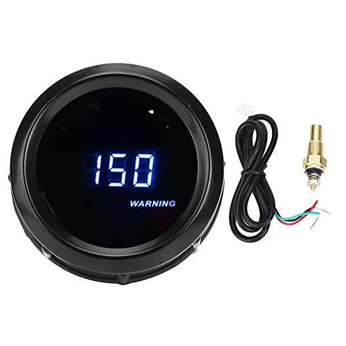 KIMISS Universal 12 V 2 in Wassertemperaturanzeige, blaue digitale Auto Wassertemperatur Meter Sensor Adapter 1/8 NPT