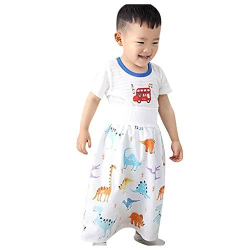 Cover Baby Windel Rock Shorts Stoffwindel Mehrwegwindeln, Hoch Taillierter, Auslaufsicherer, Wasserdichte, Cartoon Motiv, Wiederverwendbare Windelrock (H, 4-8 Jahre)
