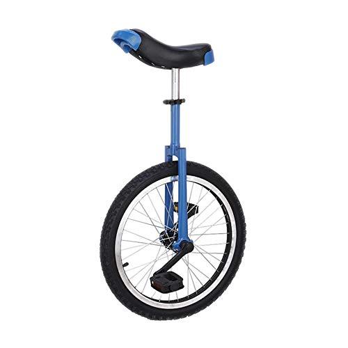 """Einrad Blaues 16\""""/ 18\"""" / 20\""""Rad Einrad, Auslaufsicheres Butylreifenrad, Blaue Höhenverstellung Fahrrad Mit Aluminiumlegierungsfelge, für Erwachsene Kinder Jungen (Size : 40cm(16inch))"""