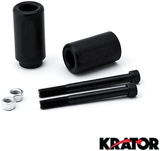 Krator MT219-032 Black Slider (1996-2003 Kawasaki Ninja ZX7R ZX7 R Frame Crash Protectors Motorcycle)