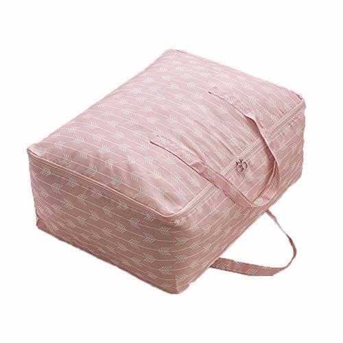 EHDFS Bolsas de almacenamiento grandes para edredones, mantas, ropa, edredones y toallas, mejor y resistente, para debajo de la cama, organizador para armarios, dormitorios, color rosa