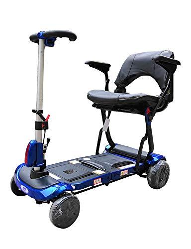 Scooter de movilidad eléctrico plegable - Scooters de ayuda a la movilidad ligeros y motorizados - Scooter eléctrico de 4 ruedas para personas mayores, ancianos, adultos - Batería de largo alcance