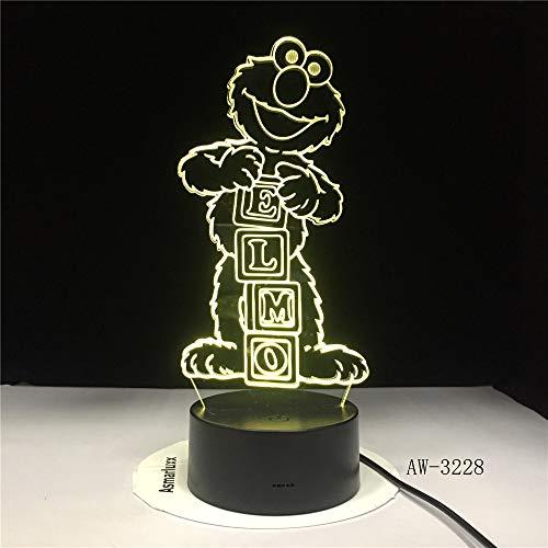 Sesamstraße Elmo BIG BIRD GROUCH Tischlampe Farbwechsel Lampen Child NightLight USB Flexible Lampe Luminaria Lamparas AW-3085