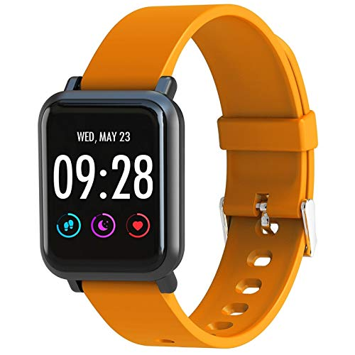 LVDHFUIASDFEFEE Smart Wear SN60 1.22 inch IPS Screen Bluetooth Smart Watch, Support Heart Rate Monitor/Blood Pressure/Blood Oxygen, Compatible with Android and iOS Phones (Color : Orange)