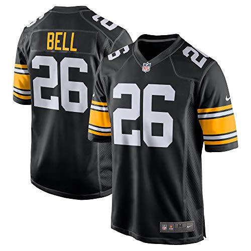 Nike Le'Veon Bell Pittsburgh Steelers NFL Boys Youth 8-20 Black Alternate On-Field Jersey (Youth X-Large 18-20)