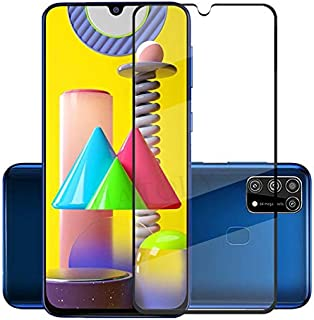 TOMMY-Phone Screen Protectors - For Glass for Samsung Galaxy M31 Tempered Glass Screen Protector Full Glue Cover Phone Fil...