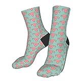 gjhj Uterus pinke Socken für kaltes Wetter, weich, warm, dick, gestrickt, gemütlich, für den...