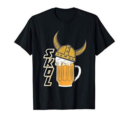 Wikinger Helm Trinkspruch SKOL Bier Honigwein T-Shirt