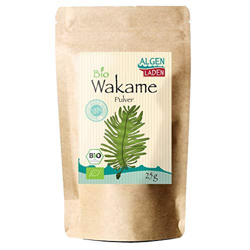 ALGENLADEN BIO Wakame Pulver - 25g | Undaria pinnatifida | Instant Algen aus dem Atlantik | Rohkost | Vegan