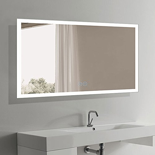 LED Bathroom Mirror Antifog, Wall Mounted Mirror with Lights Over Vanity, 60x36 -
